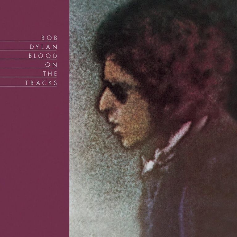 Album artwork of 'Blood on the Tracks' by Bob Dylan