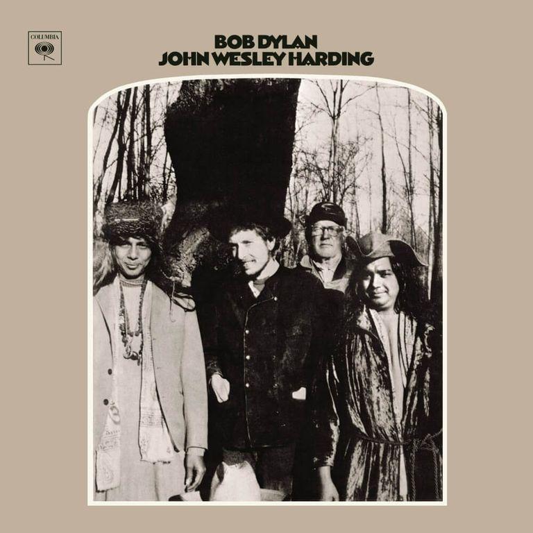 Album artwork of 'John Wesley Harding' by Bob Dylan