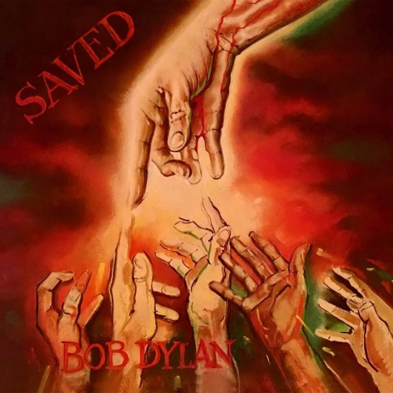 Album artwork of 'Saved' by Bob Dylan