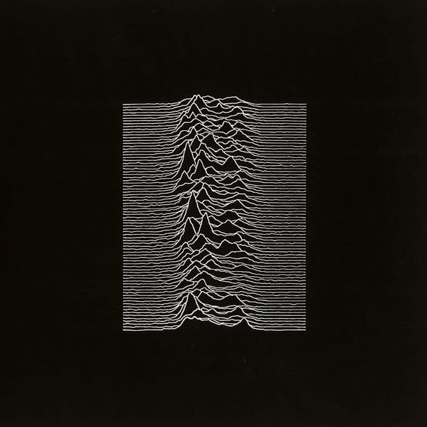 Album artwork of 'Unknown Pleasures' by Joy Division