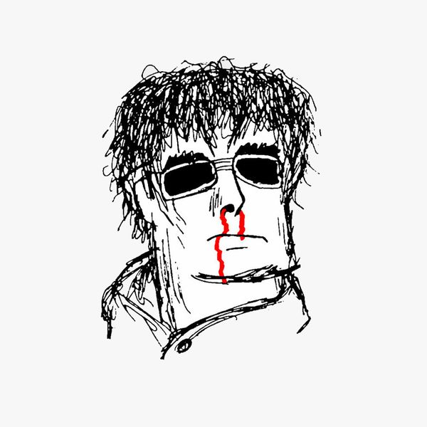 Caricature of Liam Gallagher of Oasis
