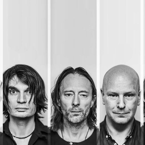 Lineup of the members of the band Radiohead