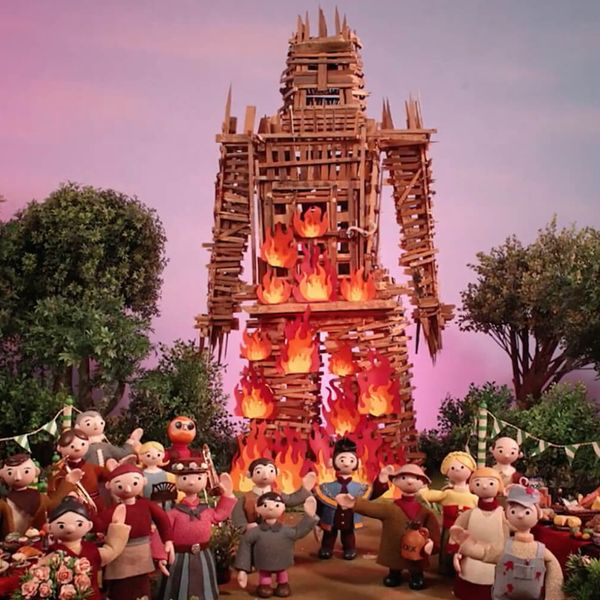 """Screenshot from the music video for Radiohead's song """"Burn the Witch"""""""
